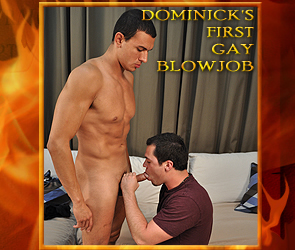 Dominicks first gay blowjob